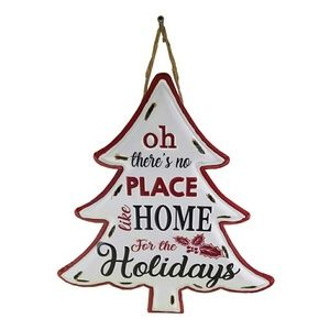 Home for the Holidays Metal Tree Hanging Decor